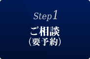Step1:ご相談(要予約)